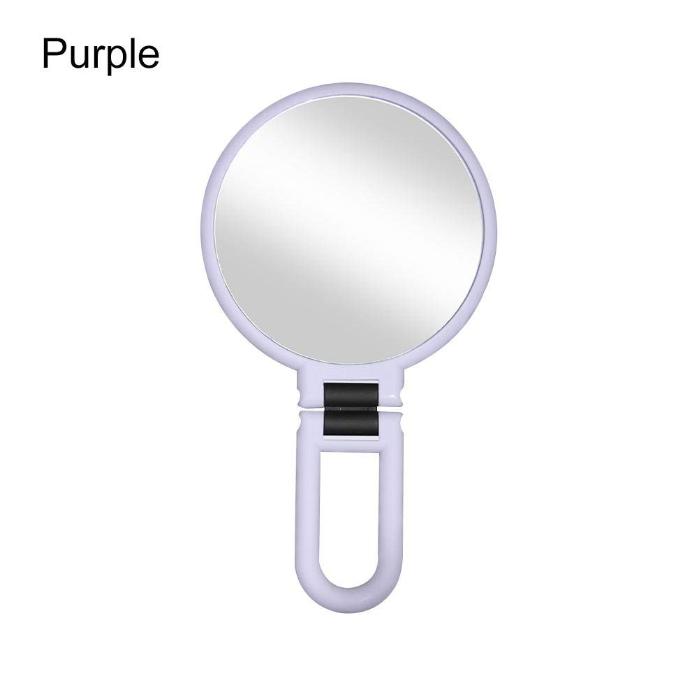 Espejo de aumento para maquillaje espejo de doble cara cosm/ético plegable 10X // 15X