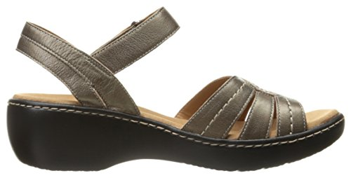 Dress Leather Varro Sandal Clarks Pewter Women's Delana 6wHxf1
