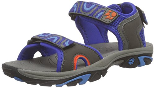 Jack Wolfskin LAKEWOOD RIDE SANDAL B, Jungen Sport- & Outdoor Sandalen, Blau (active blue 1080), 32 EU (13 Kinder UK)
