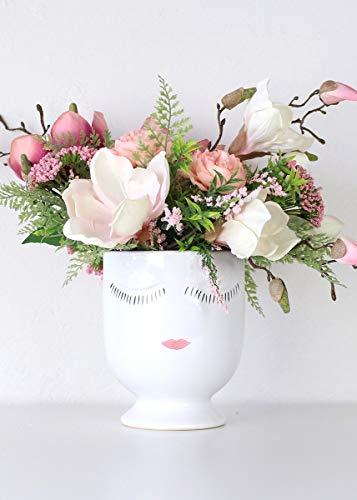 "Afloral Celfie Vase (5.5""x 6.75""Large, White)"