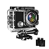 Davola 1080P HD Waterproof Action Camera, WiFi 12MP Underwater Camera, Wide-Angle Lens Sports Camera with Mounting Accessories Kit