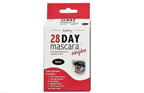 Price comparison product image Godefroy 28 Day Mascara Permanent Eyelash and Eyebrow tint Kit Single (Black) by Godefroy