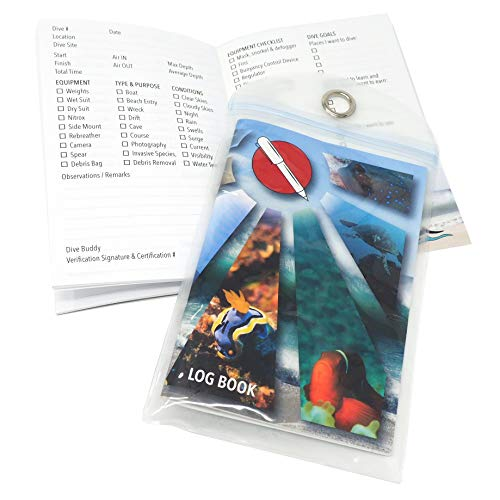 - Travel Friendly Scuba Dive Log Book with Protective Sleeve
