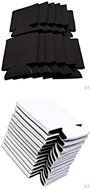 Harilla 60pcs Can Sleeves for Standard 12 oc Cans, Compact Foldable Non-Slip Bottle Coolers Holders Black and
