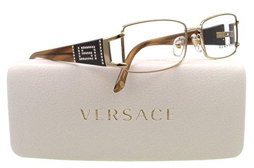 Versace Eyeglasses VE 1163B Eyeglasses 1221 Brown and Gold 52mm