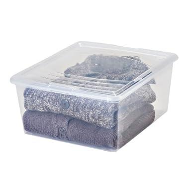 IRIS 21 Quart Modular Storage Box, 14 Pack, Clear