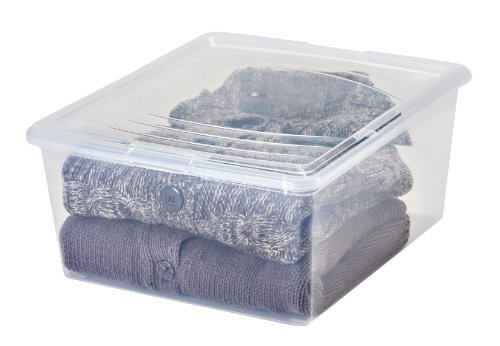 IRIS 21 Quart Modular Storage Box, 14 Pack, Clear