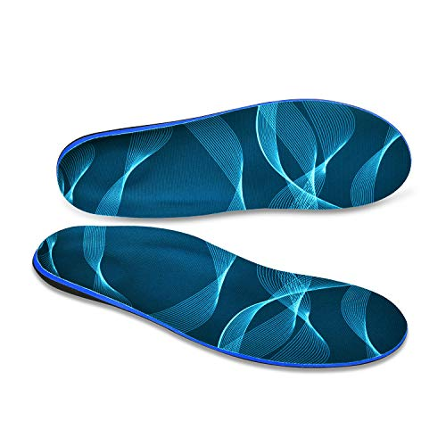 Plantar Fasciitis Foot Arch Support Shoe Inserts Orthotic Insoles for Men and Women Flat Feet Over-Pronation Pain Relief (US Mens 12-12.5 | Womens 14-14.5) (Best Sandals For Overpronation And Flat Feet)
