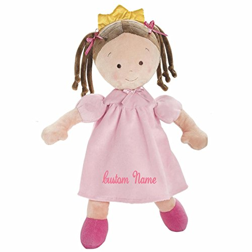 Personalized Little Princess Doll - 16 Inch - Brunette, CUSTOM NAME