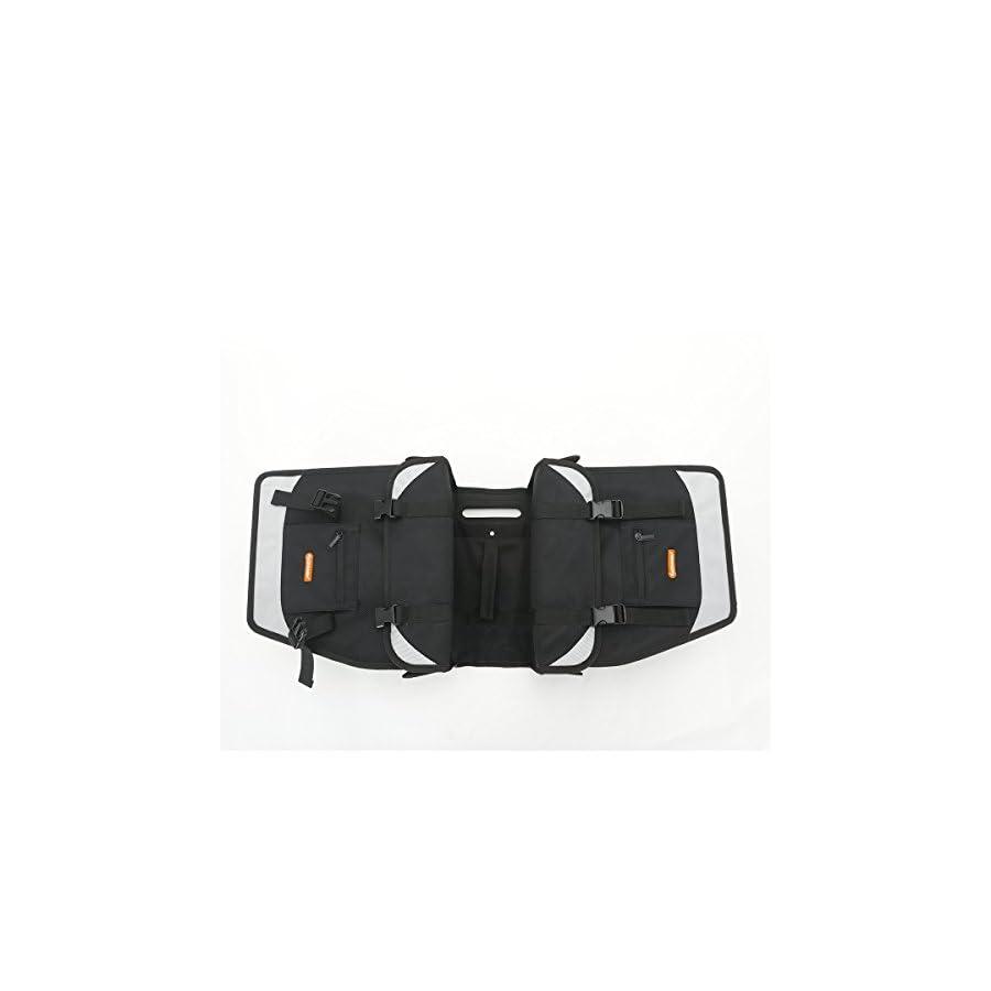 ONWAY Waterproof Bike Trunk Bag Double Pannier Messenger Cargo Bag with Independent Laptop Pocket for Commuter, Black
