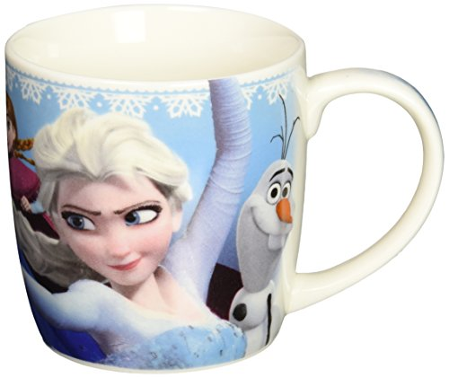 Zak! Designs Porcelain Mug with Elsa, Anna and Olaf from Frozen, 12-Ounce