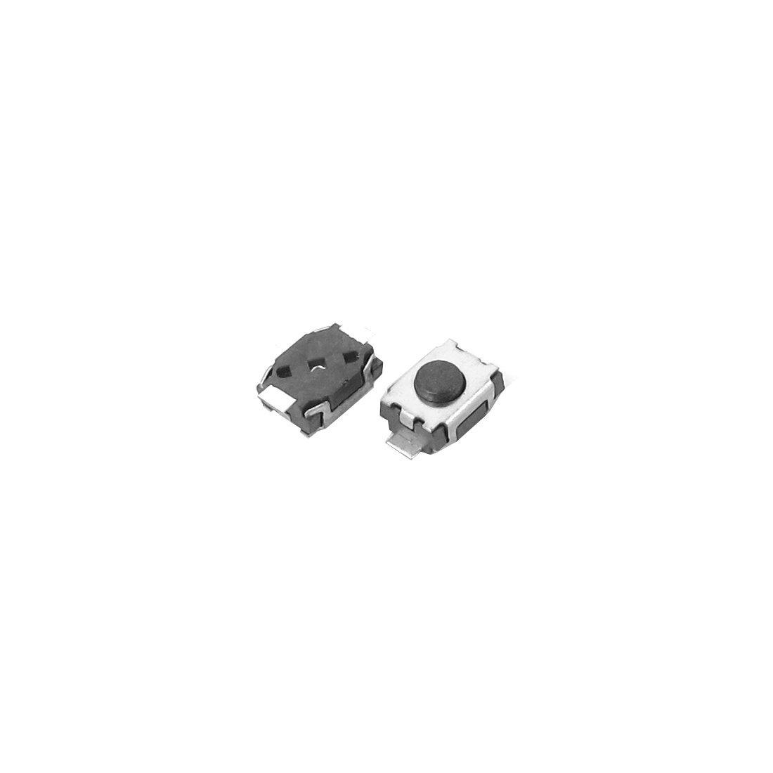 DealMux 4x3x2mm 2 pinos PCB SMD SMT Push Button Tact Tactile Ligue 100 Pcs
