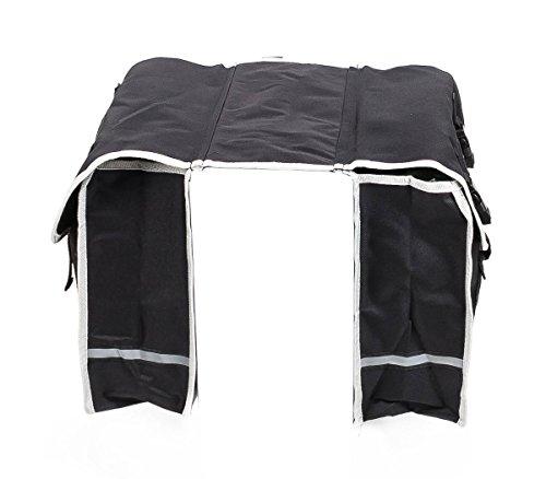 Doppelte Fahrradtasche für den Gepäckträger, wasserdicht, reflektierend, jeweils 36 x 30 x 12 cm