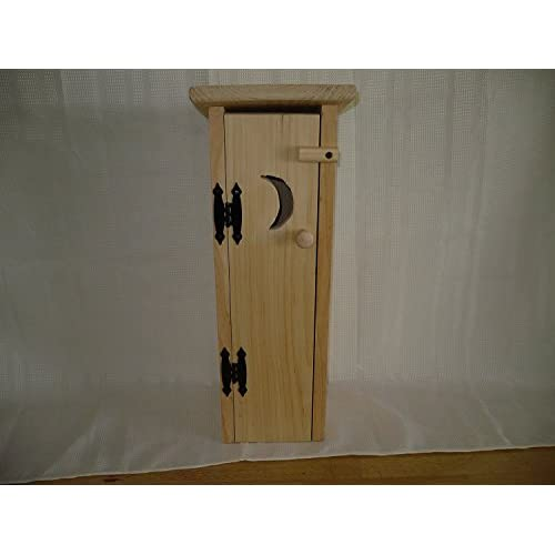 6176db2b0373 Pine Outhouse Toliet Paper Holder. This Unfinished Outhouse Holds 4 ...
