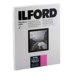 Ilford Multigrade Iv Rc Deluxe Resin Coated Vc Variable Contrast - Black & White Enlarging Paper, 8x10 Inches, 25 Sheets, Glossy Surface (116 8190)