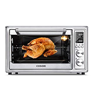 COSORI CO130-AO 12-in-1 Air Fryer Toaster Oven Combo Convection Roaster with Rotisserie & Dehydrator, 100 Original Recipe, 30L/CO130-AO, Silver