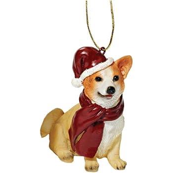 Design Toscano Christmas Ornaments - Xmas Welsh Corgi Holiday Dog Ornaments