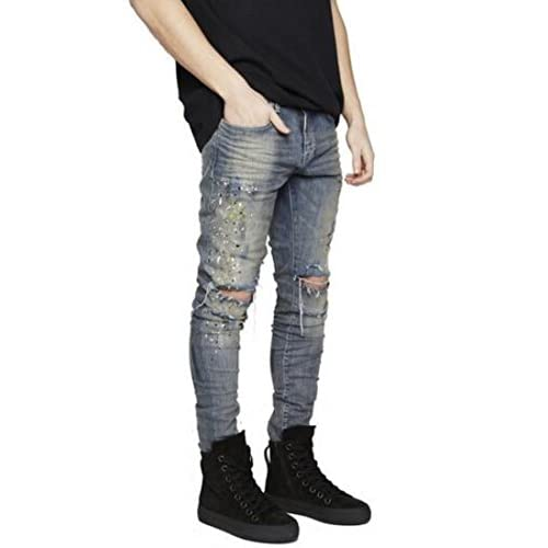 326d0c60f74 low-cost Sarriben Mens Destroyed Hole Skinny Jean Ripped Denim Distressed Slim  Fit Jean