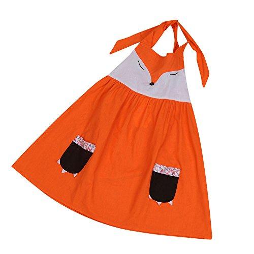 [Nation Baby Summer Fox Design Girl Dress Baby Dress Kids Costume (12 month)] (12 Month Girl Costume)