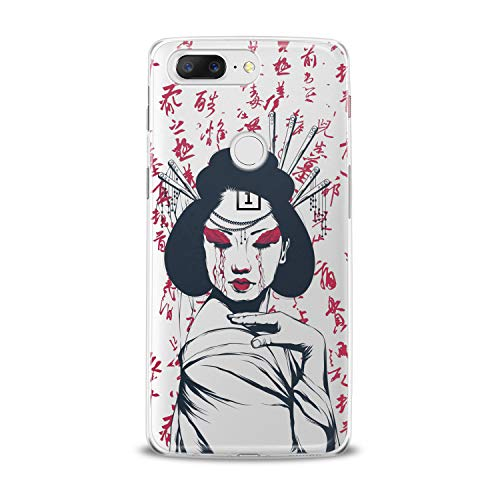 Lex Altern TPU Case for OnePlus 7 Pro 6T 6 2019 5T 5 2017 One+ 3 1+ Beutiful Geisha Flexible Clear Smooth Slim fit Design Beauty Woman Gift Cover Print Traditionals Lady Lightweight Soft Cute Top -