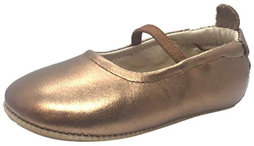 Elastic Leather Old Gold Soles Old Jane Girl's Ballet Luxury Flat Shoe Mary gn1RAxBq4