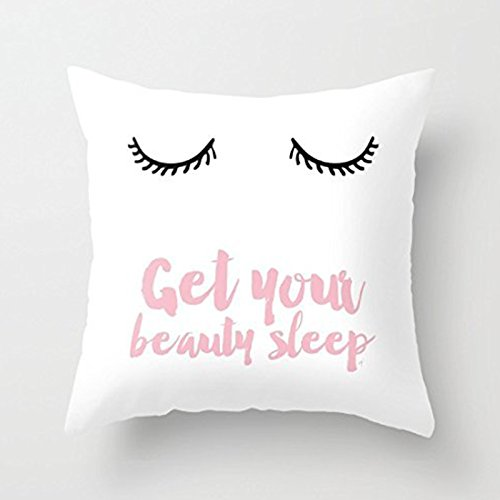 Generic Beauty Sleep Pink Throw Pillow Cover Decorative Acce