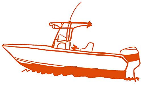 "hBARSCI Fishing Boat Vinyl Decal - 5""- Die-Cut Sticker - for"