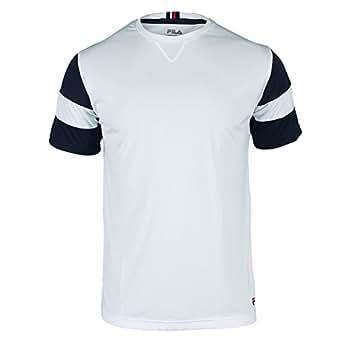 Fila Men's Heritage Body Mapped Crew Shirt 2XL, White