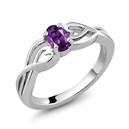 Stone Amethyst Ring - 6