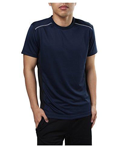 踏み台つぶす膨らみビジョンクエスト スポーツウェア 半袖Tシャツ RUNTシャツ VQ561002H01 NV/BK S