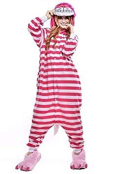 Taille M LMM de No/ël du Chat du Cheshire Kigurumi Polaire /à Capuche Pyjama grenouill/ère Animal Cosplay Costume pour Adulte Unisexe Homme Femme Combinaison Taille Plus Sweetheart