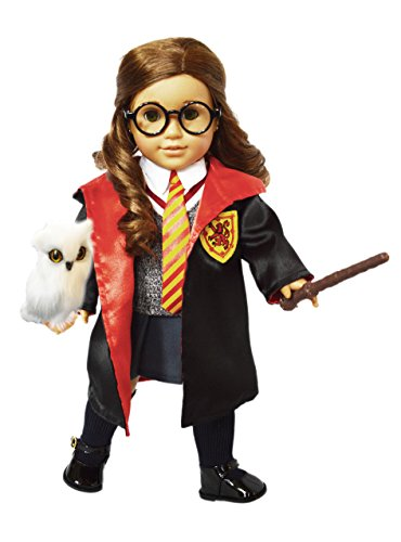 My Brittany's 11 Piece Hermione Inspired Outfit for American Girl Dolls Complete with Mini Owl ,Glasses,Shoes,Socks- 18 Inch Doll Clothes-Halloween (Harry Potter 18 Doll Costume)