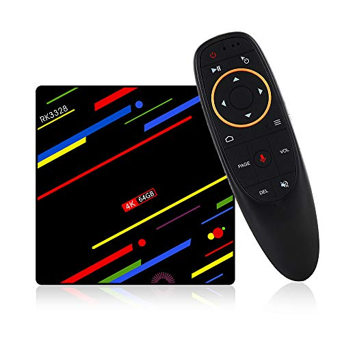 YHML TV Box Android 7.1 Voice Edition Max+ 4/64G Streaming Media Player RK3328 Network Player HD 4k, Supports MP3, AC3…