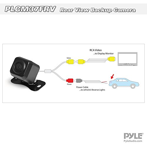 Marine Grade Waterproof 1.25 Cam Built-in Distance Scale Lines Backup Parking//Reverse Assist IR Night Vision LEDs w// 420 TVL Resolution /& RCA Output Pyle Flush Mount Rear View Camera PLCM22IR
