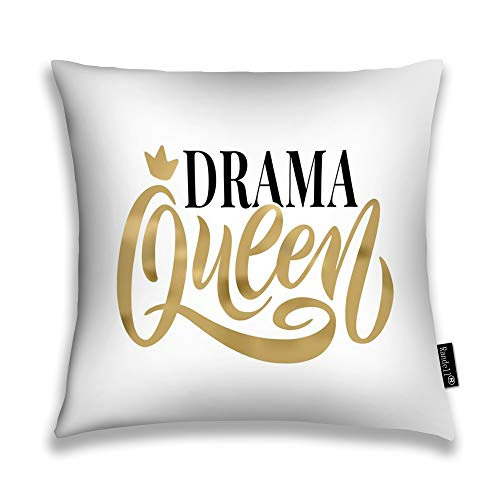 Randell Throw Pillow Covers Queen Word Crown Fun to Hoody Home Decorative Throw Pillowcases Couch Cases 26