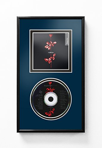 CD and Cover Art Display Frame - Navy Blue