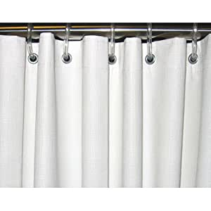 heavy duty textured shower curtain size 54 x 72 home kitchen. Black Bedroom Furniture Sets. Home Design Ideas