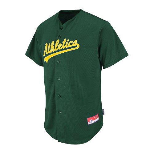 Oakland Athletics Adult Medium Full Button Cool Base MLB Replica Jersey