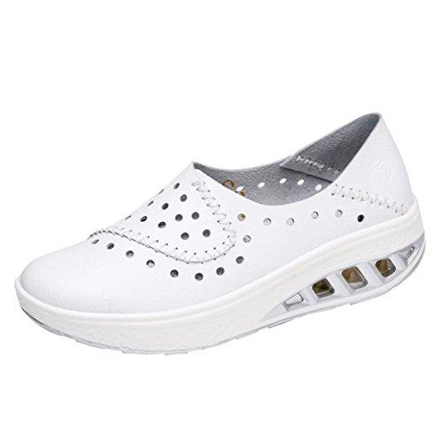 f09942af421 Mujer Plataforma Otoño Paolian Tallas Zapatos Hueco Blanco Moda De  Zapatillas Cuña Blancas Con Grandes Trabajo Espadrilles Cómodos Cuero Para  Calzado Dama ...