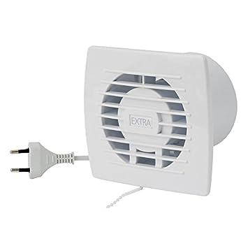 Badlüfter 120mm Lüfter Abluft Kabel Schalter Ventilator Küche WC Bad E120WP
