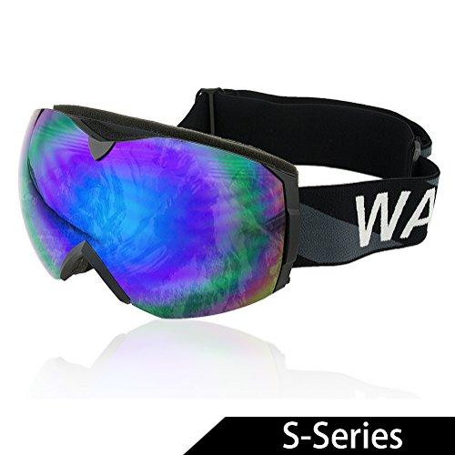WACOOL Multicolor Professional Snowmobile Snowboard Skate Ski Goggles (Revo Blue)