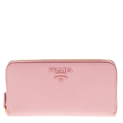 Prada Women's Saffiano Leather Wallet Pink