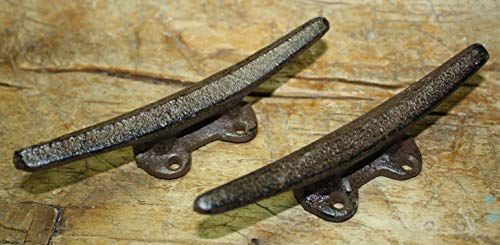 Vintage Antique Hooks 2 Cast Iron Antique Style Boat Cleats Coat Hooks Nautical Drawer Pulls Boat