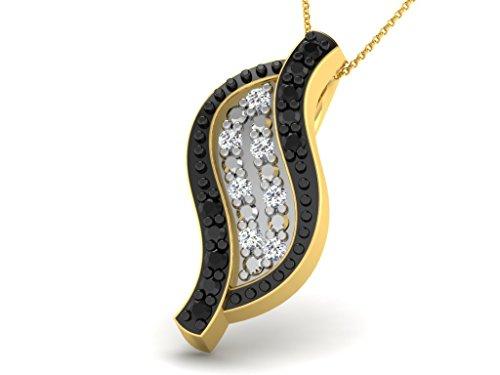 Or Jaune 9 ct Pendentifs Diamant en forme de feuille, 0.02 Ct Diamant, GH-SI, 0.61 grammes.