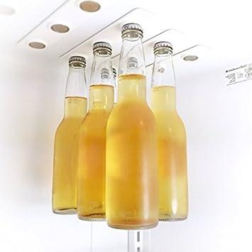 zeuxs cerveza hanger- imán para nevera/holder-6 cervezas capacidad ...