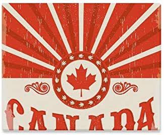 Arte de la pared pintura Canadá Vintage cartel antiguo Bandera ...