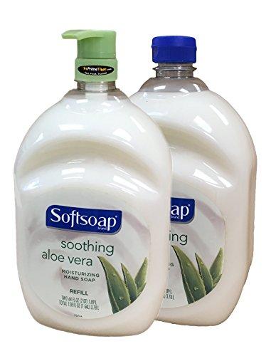 (Softsoap Aloe Vera Hand Soap Refill 64 Fl Oz Bottle (Pack of 2) w/Pump)