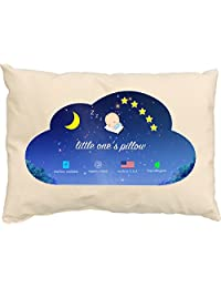 Little One's Pillow - Toddler Pillow, Delicate Organic Cotton, Hand-Crafted in USA (13 in x 18 in)