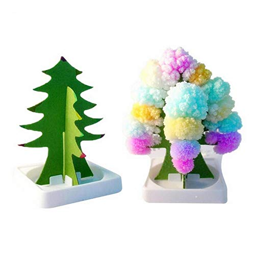 Euone  Magic Paper Tree, Paper Tree Flowering Toy Creative Colorful Magic Tree Paper Crafts Gift
