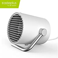 Eazieplus Mini Portable Fan,Small Personal USB Table Desk Fan,Touch Control For Home, Office, Outdoor Travel (White)